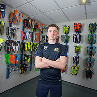 Pictures show Blackburn Rovers and Northern Ireland footballer Corry Evans pictured at the Blackburn Rovers Training Academy at Brockhall.<br />