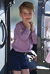 The Duke and Duchess of Cambridge, Prince George and Princess Charlotte depart Germany from Hamburg Airport, at the end of their tour of Germany, on the 21st July 2017. 21 Jul 2017 Pictured: Prince George. Photo credit: James Whatling / MEGA TheMegaAgency.com +1 888 505 6342