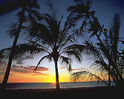 Sunset, Hapuna Beach, Island of Hawaii, Hawaii, USA<br />