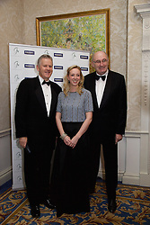 23/10/2015<br /> 10/23/2015<br /> 23 October 2015<br />  Guild of Agricultural Journalists &ndash; Michael Dillon Lecture at the Shelbourne Hotel, Dublin. For Farmer's Journal. <br /> At the event were (l-r): Stan McCarthy: Oonagh O'Mahony and  Phil Hogan, European Commissioner for Agriculture and Rural Development.