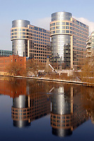 07 JAN 2003, BERLIN/GERMANY:<br /> Gebaeudeansicht Bundesministerium des Inneren (Rechter Turm)<br /> IMAGE: 20030107-01-022<br /> KEYWORDS: Bundesinnenministerium, Ministry of the Interior