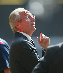 CARDIFF, WALES - SATURDAY, SEPTEMBER 3rd, 2005: England's manager Sven-Goran Eriksson during the World Cup Qualifier at the Millennium Stadium. (Pic by Chris Brunskill/Propaganda)