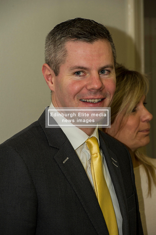 Pictured: Finance secretary Derek Mackay<br /> <br /> Today, Finance Secretary Derek Mackay opened the newly refurbished TSB branch on Hanover Street in Edinburgh.  Mr Mackay met with staff and customers and toured the facilities. <br /> <br /> Ger Harley | EEm 18 Novcember 2016