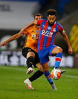 2019 / 2020 Premier League - Wolverhampton Wanderers vs Crystal Palace <br /> <br /> Diogo Jota of Wolverhampton Wanderers and Andros Townsend of Crystal Palace at Molyneux.<br /> <br /> Credit COLORSPORT/LYNNE CAMERON