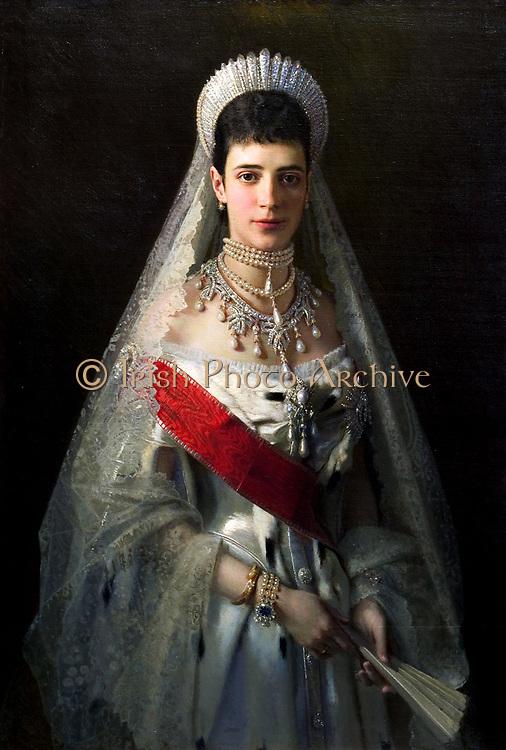 Maria Feodorovna Empress of Russia 1881-1894. Portrait by Kramskoj