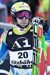 23.01.2011, Hahnenkamm, Kitzbuehel, AUT, FIS World Cup Ski Alpin, Men, Slalom, im Bild // Mitja Valencic (SLO) // during the men slalom race at the FIS Alpine skiing World cup in Kitzbuehel, EXPA Pictures © 2011, PhotoCredit: EXPA/ S. Zangrando