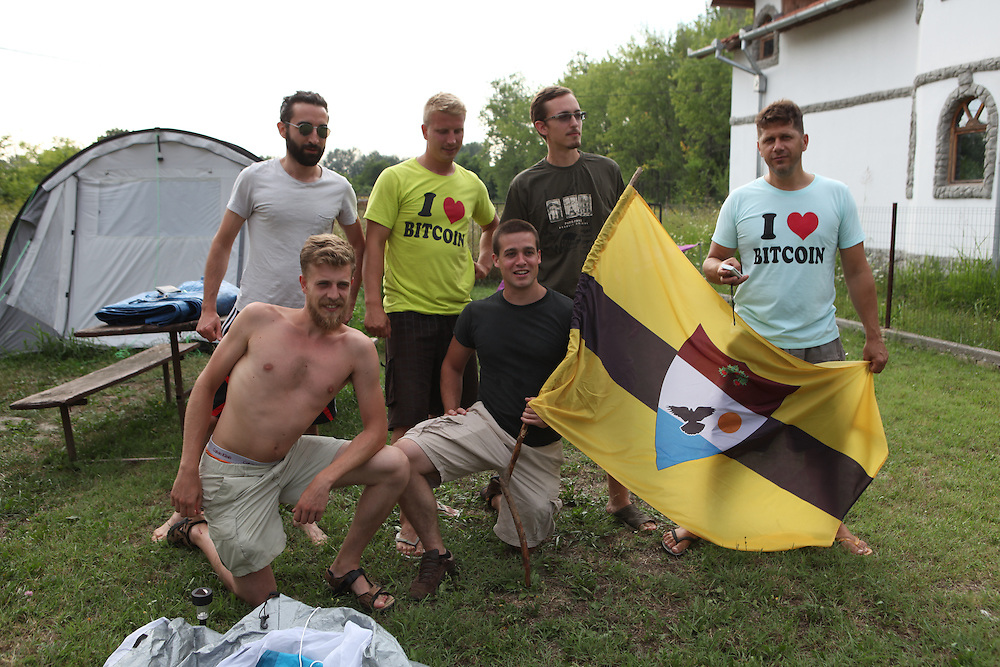 Liberland Settlement Association members at the LSA house, Bezdan, Serbia