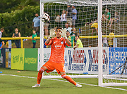 Swope Park Rangers goalkeeper Adrian Zendejas(1) makes the save during a USL soccer game, Sunday, May 26, 2019, in St. Petersburg, Fla. The Rowdies defeated the Rangers 1-0. (Brian Villanueva/Image of Sport)
