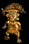 PERU, PREHISPANIC, GOLD Mochica; Lord of Sipan 'feline-man'