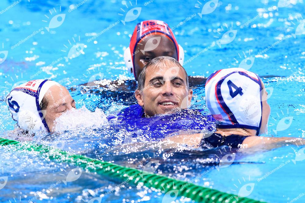 Celebration USA Gold Medal <br /> KIRKORIAN Adam USA celebration <br /> Rio de Janeiro 19-08-2016 Olympic Aquatics Stadium  - Water Polo <br /> USA - ITALY Final <br /> Foto Andrea Staccioli/Deepbluemedia/Insidefoto