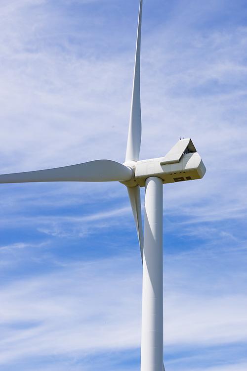wind turbine against wispy cloud at MacArthur Wind Farm, Menhamite, Victoria, Australia