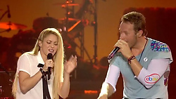 """Shakira releases a photo on Instagram with the following caption: """"So fun to sing Chantaje with Chris Martin last night! / Con Chris Martin cantando Chantaje anoche! Shak"""". Photo Credit: Instagram *** No USA Distribution *** For Editorial Use Only *** Not to be Published in Books or Photo Books ***  Please note: Fees charged by the agency are for the agency's services only, and do not, nor are they intended to, convey to the user any ownership of Copyright or License in the material. The agency does not claim any ownership including but not limited to Copyright or License in the attached material. By publishing this material you expressly agree to indemnify and to hold the agency and its directors, shareholders and employees harmless from any loss, claims, damages, demands, expenses (including legal fees), or any causes of action or allegation against the agency arising out of or connected in any way with publication of the material."""