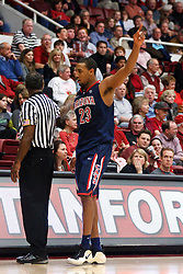February 3, 2011; Stanford, CA, USA;  Arizona Wildcats forward Derrick Williams (23) walks towards the bench after fouling out against the Stanford Cardinal during the second half at Maples Pavilion.  Arizona defeated Stanford 78-69.