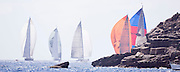 William Tai, Ranger, Ganesha, the new Firefly, and Rebecca sailing in the St. Barth's Bucket Regatta, day three.