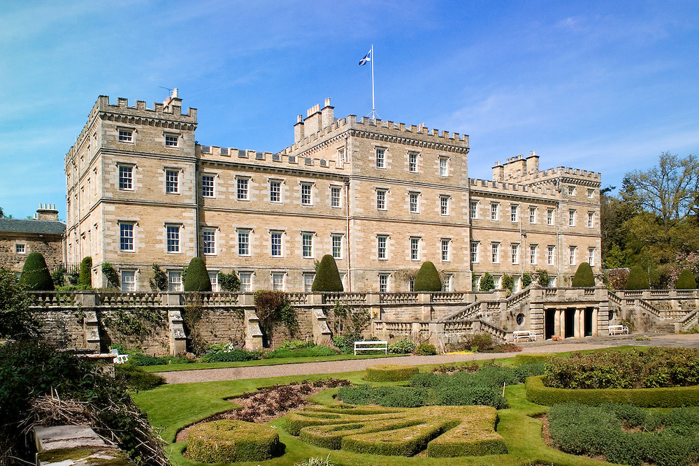 Mellerstain House in the Scottish Borders (near Earlston) is a stately home open to the public; interior designed by Robert Adam