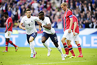 Fotball , 27. mai 2014 , Privatkamp , Frankrike - Norge<br /> Paul Pogba (Fra)<br /> Brede Hangeland , Norge<br /> Olivier Giro  , Frankrike<br /> Norway only