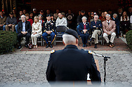 Kentucky National Guard Inspector General, Colonel Martin Carpenter addresses an audience assembeled to honor military veterans during a  Veterans Day ceremony at Eastern Kentucky University, Saturday, November 10, 2012. Photo by Chris Radcliffe