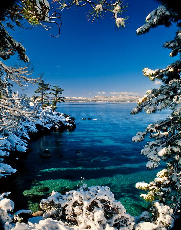 Lake Tahoe Scenic Winter Frame