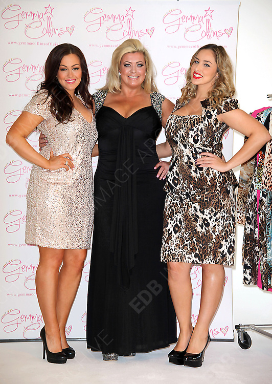 05.NOVEMBER.2012. LONDON<br /> <br /> GEMMA COLLINS EXTENDS HER &lsquo;GEMMA COLLINS&rsquo; COLLECTION&rsquo; PLUS-SIZE CLOTHING RANGE AND LAUNCHES NEW PIECES FROM HER AUTUMN/WINTER COLLECTION.<br /> <br /> BYLINE: EDBIMAGEARCHIVE.CO.UK<br /> <br /> *THIS IMAGE IS STRICTLY FOR UK NEWSPAPERS AND MAGAZINES ONLY*<br /> *FOR WORLD WIDE SALES AND WEB USE PLEASE CONTACT EDBIMAGEARCHIVE - 0208 954 5968*