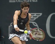 Carla Suarez Navarro (ESP) during the WTA Generali Ladies Open at TipsArena, Linz<br /> Picture by EXPA Pictures/Focus Images Ltd 07814482222<br /> 11/10/2016<br /> *** UK &amp; IRELAND ONLY ***<br /> <br /> EXPA-REI-161011-5006.jpg