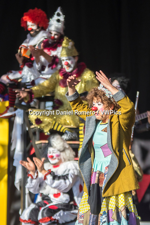 Clown theater. Ciudad Teatro. Mundo Aventura Park.