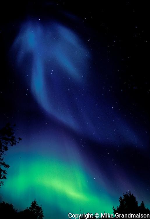 Northern lights or aurora borealis <br /> <br /> Sudbury<br /> Ontario<br /> Canada
