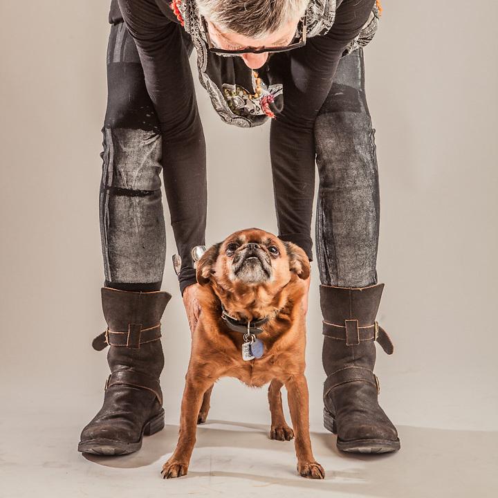 Ellen and her dog Gizmo, Anchorage.