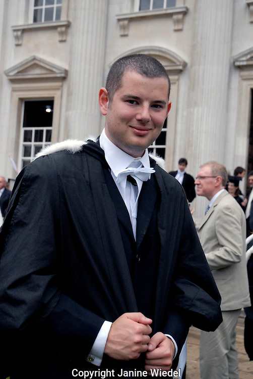 Graduating Student at Cambridge University Graduation Day 2007.