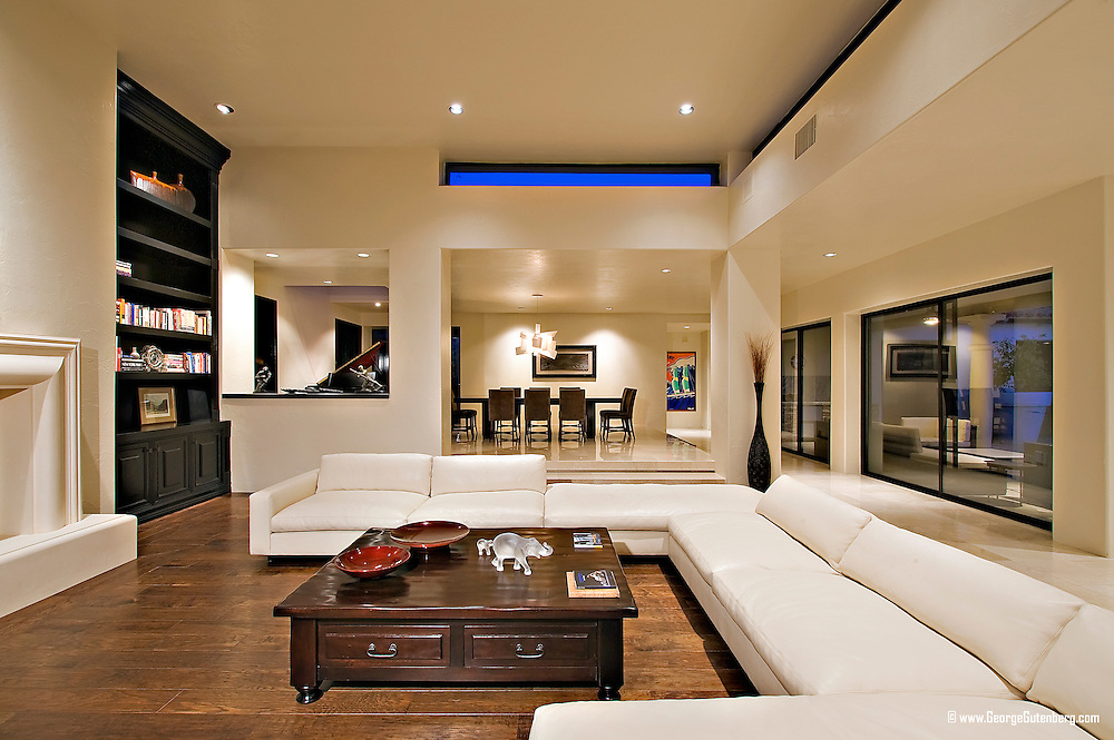 Residential architecture and interior design photograph by George Gutenberg Architectural Photography, Palm Desert, California