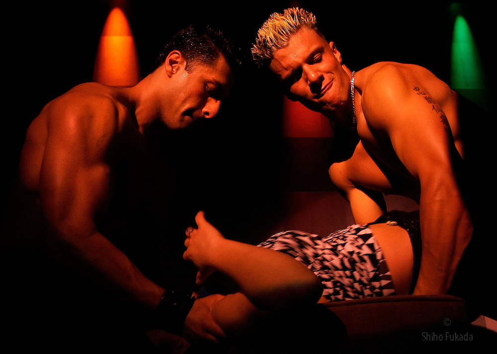 Male strippers perform, Nov.13, 2006 in New York.
