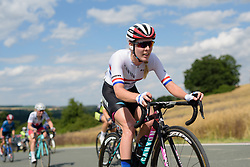 Hannah Barnes (CANYON//SRAM Racing) on her way to the Hankaberg summit at Thüringen Rundfarht 2016 - Stage 5 a 99km road race starting and finishing in Greiz, Germany on 19th July 2016.