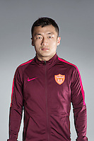Portrait of Chinese soccer player Wu Yongchun of Yanbian Funde F.C. for the 2017 Chinese Football Association Super League, in Namhae County, South Gyeongsang Province, South Korea, 11 February 2017.