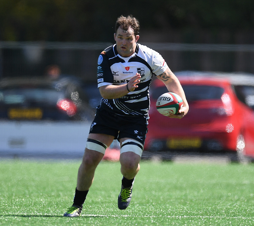 Pontypridd's Rhys Shellard<br /> Pontypridd RFC v Cardiff RFC<br /> <br /> Photographer Mike Jones / Replay Images<br /> Sardis Road, Pontypridd.<br /> Wales - 5th May 2018.<br /> <br /> Pontypridd RFC v Cardiff RFC<br /> Principality Premiership<br /> <br /> World Copyright © Replay Images . All rights reserved. info@replayimages.co.uk - http://replayimages.co.uk