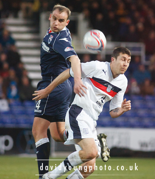 Ross County's Grant Munro and Dundee's Colin Nish  - Ross County v Dundee, Clydesdale Bank Scottish Premier League at Victoria Park, Dingwall.. - © David Young - www.davidyoungphoto.co.uk - email: davidyoungphoto@gmail.com