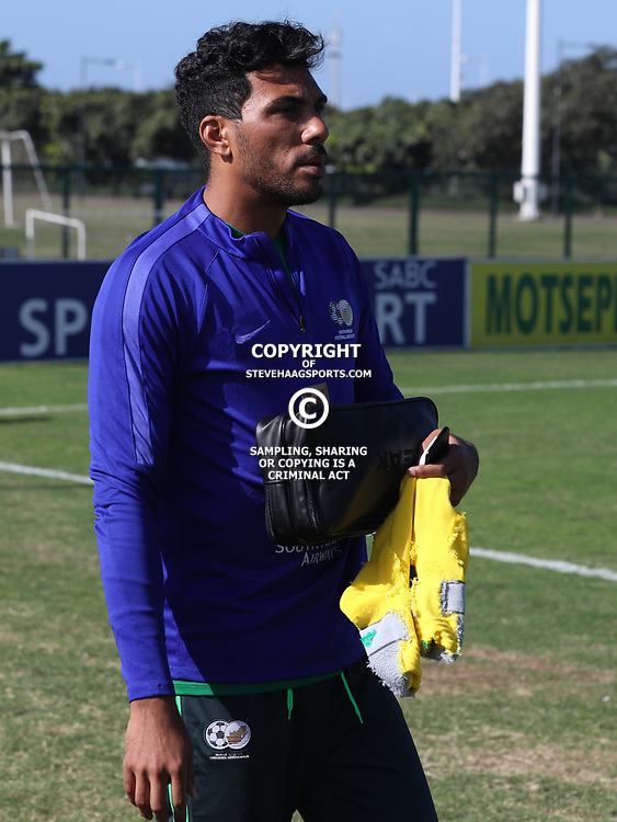 Shu-Aib Walters G/K of (Bafana Bafana) South Africa during the Bafana Bafana Training at People's Park, Moses Mabhida Stadium in Durban,21st March 2017 (Steve Haag)