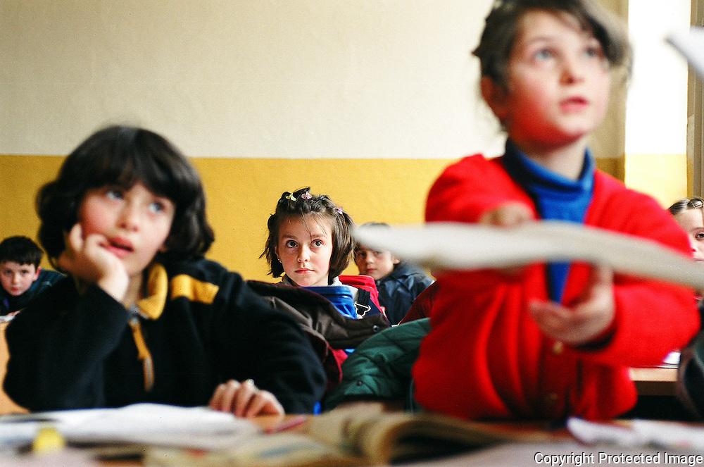 An Albanian language class in Peje, Kosovo.