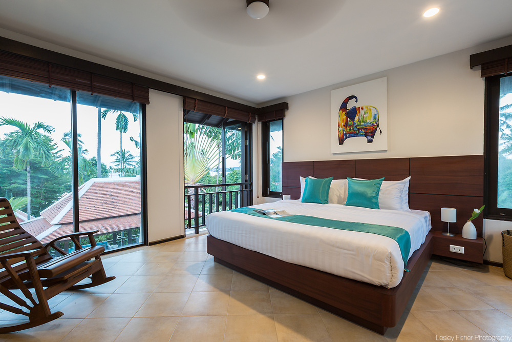 Bedroom at Villa Divina, a private and luxury 3 bedroom villa located in Plumeria Place, a private residence in Bang Rak, Koh Samui, Thailand