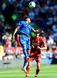 Nathaniel Mendez-Laing of Cardiff City heads the highball - Mandatory by-line: Nizaam Jones/JMP - 21/04/2019 -  FOOTBALL - Cardiff City Stadium - Cardiff, Wales -  Cardiff City v Liverpool - Premier League