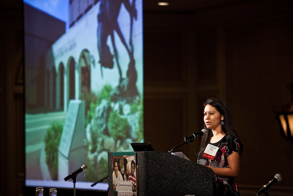"Olga Cardoso-Vasquez, Program Director at the Llano Grande Center for Research and Development , speaks to the National Rural Assembly during the ""Speaking Rural Truth to Power"" session on Tuesday, June 27, 2011."