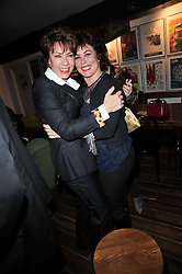 Left to right, KATHY LETTE and RUBY WAX at the gala night party of Losing It staring Ruby Wax held at he Menier Chocolate Factory, 51-53 Southwark Street, London SE1 on 23rd February 2011.