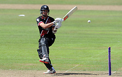 Somerset's Tom Cooper pulls the ball - Photo mandatory by-line: Harry Trump/JMP - Mobile: 07966 386802 - 31/07/15 - SPORT - CRICKET - Somerset v Worcestershire- Royal London One Day Cup - The County Ground, Taunton, England.