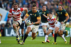 Handre Pollard of South Africa goes on the attack - Mandatory byline: Patrick Khachfe/JMP - 07966 386802 - 19/09/2015 - RUGBY UNION - Brighton Community Stadium - Brighton, England - South Africa v Japan - Rugby World Cup 2015 Pool B.