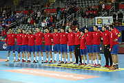 Team Serbia during the EHF 2018 Men's European Championship, 2nd Round, Handball match between Serbia and France on January 22, 2018 at the Arena in Zagreb, Croatia - Photo Laurent Lairys / ProSportsImages / DPPI