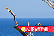 Jessica Macaulay of Great Britain during the Red Bull Cliff Diving World Series 2018 on September 23, 2018 in Polignano a Mare, Italy - Photo Marco Verri / ProSportsImages / DPPI