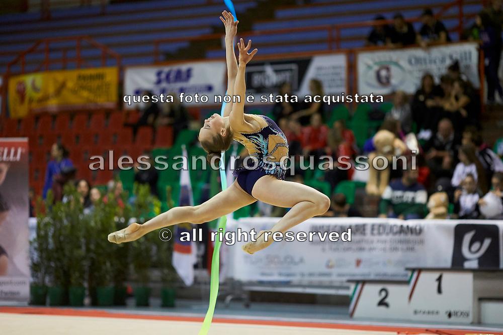 Evchik Julia during the Italian Rhythmic Gymnastics Championship 2018 in Fabriano.