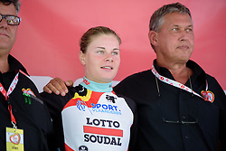 Lotte Kopecky (Lotto Soudal) at the 97 km Stage 3 of the Lotto Belgium Tour 2016 on 9th September 2016 in Geraardsbergen, Belgium. (Photo by Sean Robinson/Velofocus).