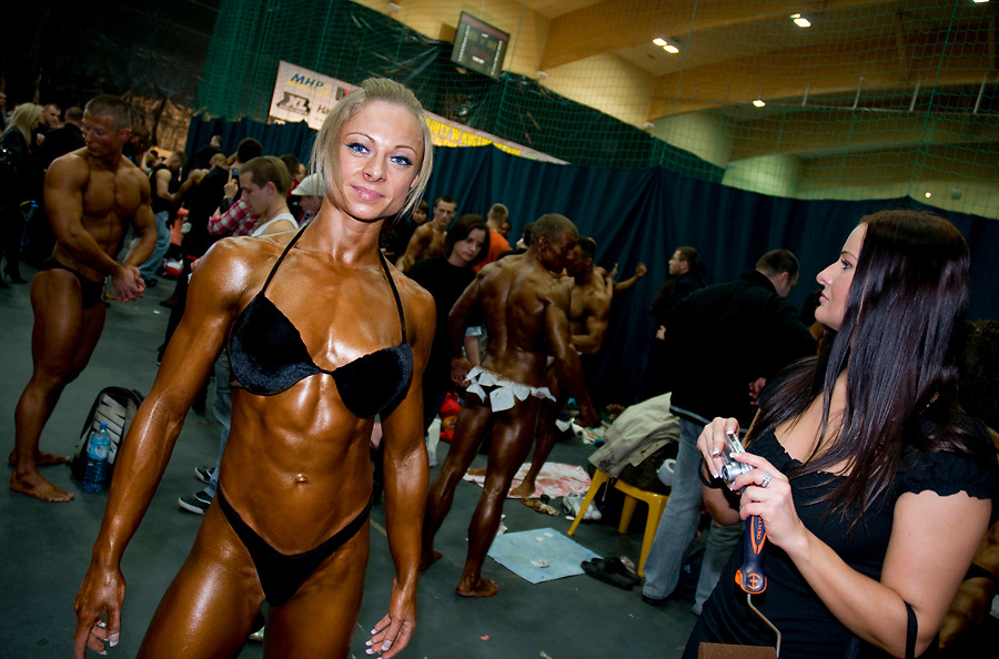 Ostrow Mazowieski, Poland. Female Body Building and Fitness Debut 2010 Contest.