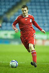 LEICESTER, ENGLAND - Tuesday, January 12, 2010: Liverpool's Michael Roberts in action against Leicester City during the FA Youth Cup 4th Round match at the Walkers Stadium. (Photo by David Rawcliffe/Propaganda)
