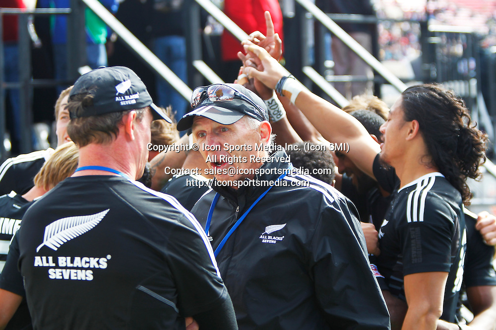 10 February 2013: New Zealand v Fiji during the final day of round 5 at the HSBC Sevens World Series of Rugby at Sam Boyd Stadium in Las Vegas, Nevada.