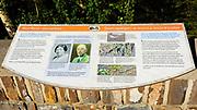 Interpretive display, Cave and Basin National Historic Site, Banff National Park, Alberta, Canada